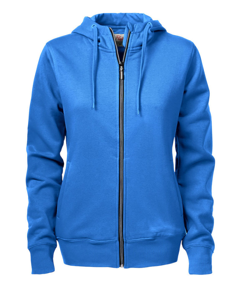 2262052 Hooded sweat jacket OVERHEAD LADY-632 oceaanblauw