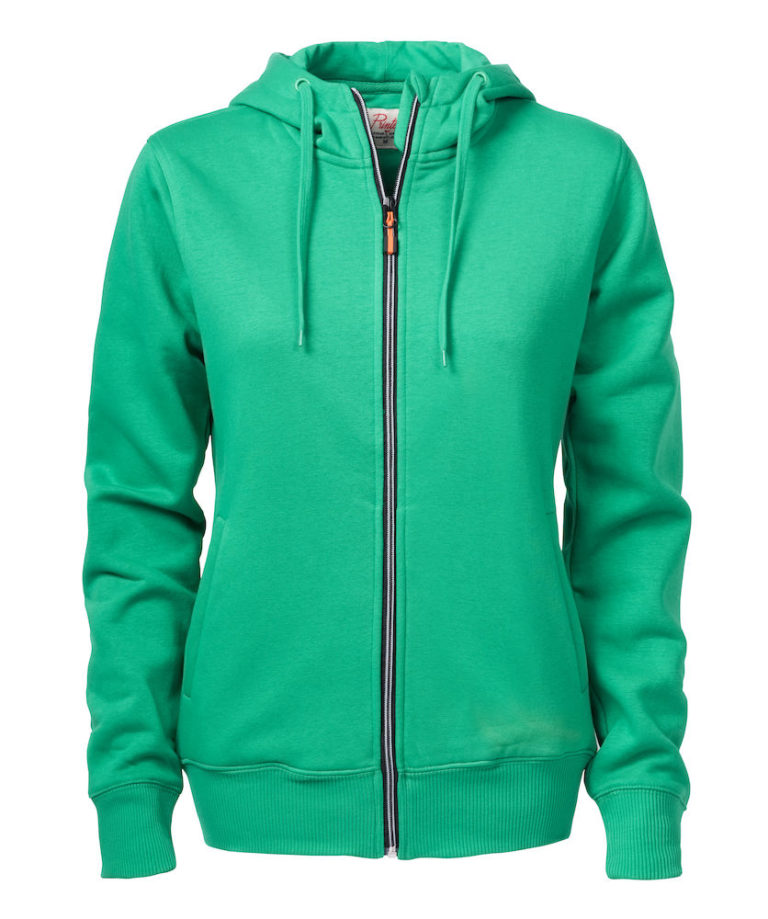 2262052 Hooded sweat jacket OVERHEAD LADY-728 frisgroen