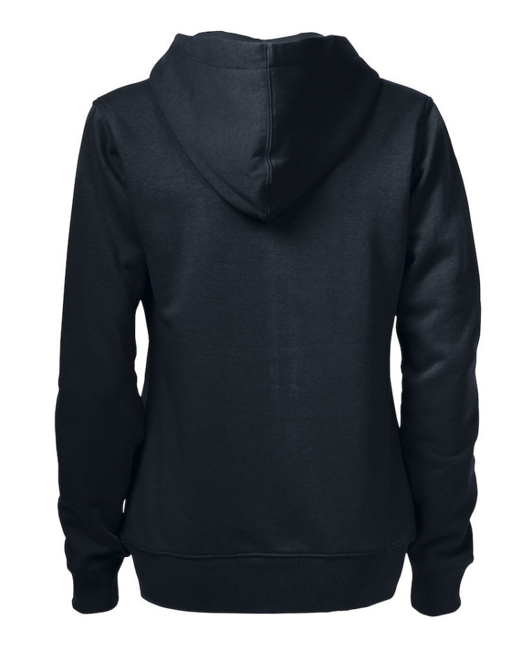 2262052 Hooded sweat jacket OVERHEAD LADY-900 zwart