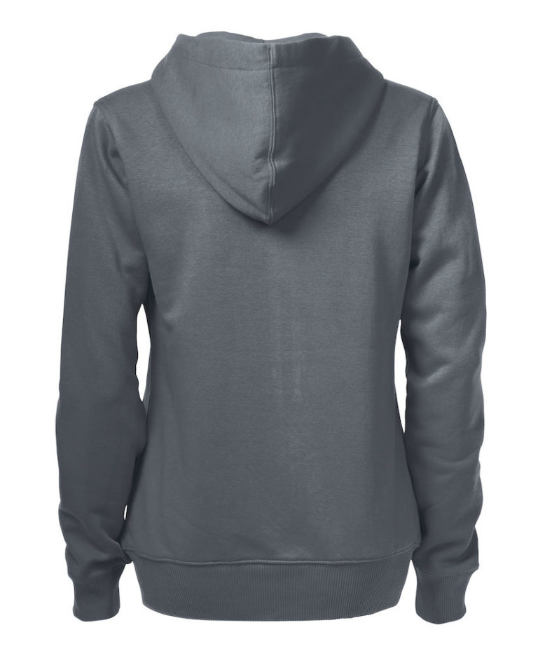 2262052 Hooded sweat jacket OVERHEAD LADY-935 staalgrijs