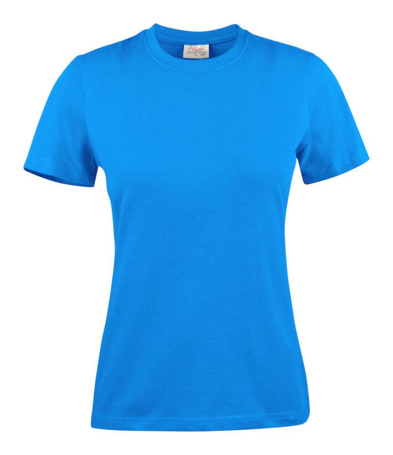 2264014 T-shirt HEAVY T LADY 632 oceaanblauw