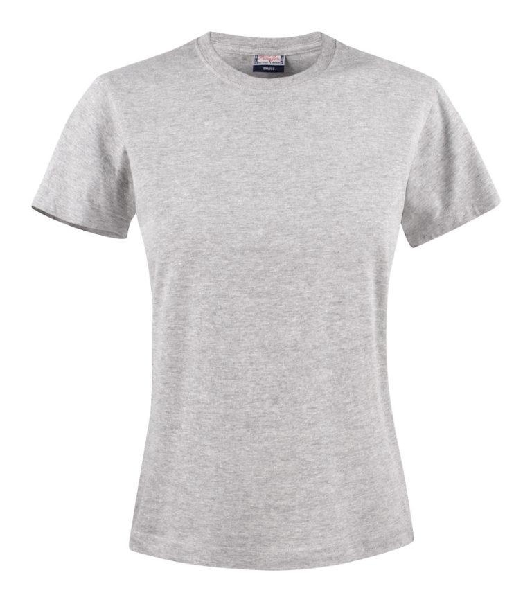 2264014 T-shirt HEAVY T LADY 120 grey melange