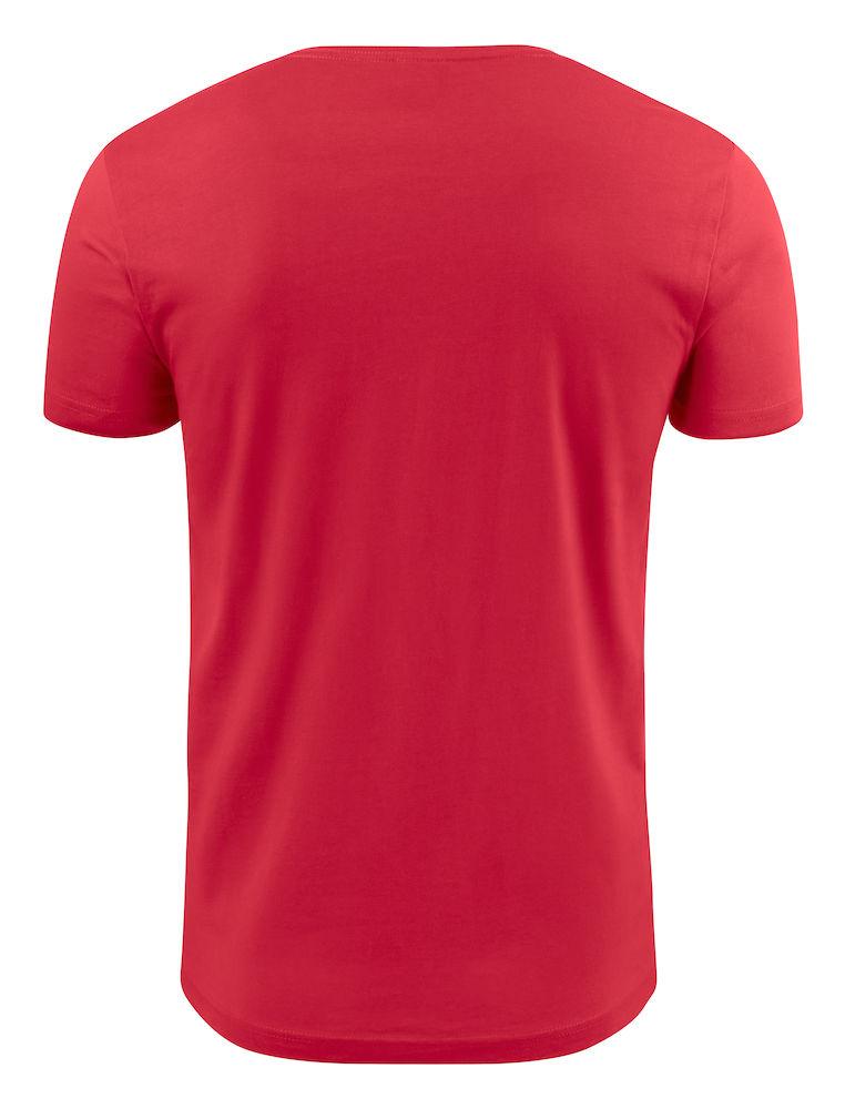 2264024 T-shirt HEAVY V-NECK 400 rood