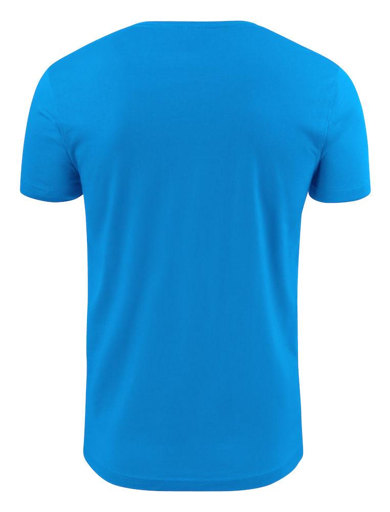 2264024 T-shirt HEAVY V-NECK 632 oceaanblauw