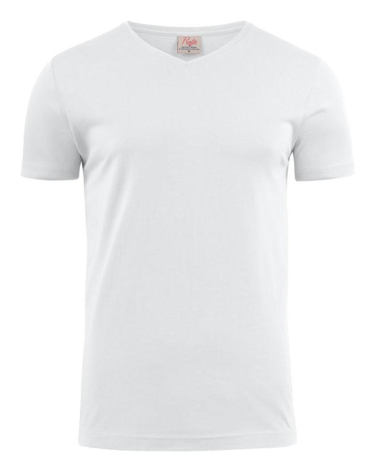 2264024 T-shirt HEAVY V-NECK 100 wit