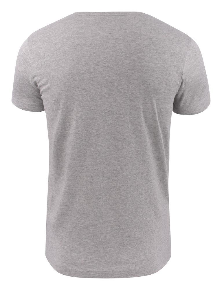 2264024 T-shirt HEAVY V-NECK 120 grey melange