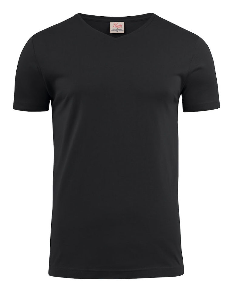 2264024 T-shirt HEAVY V-NECK 900 zwart