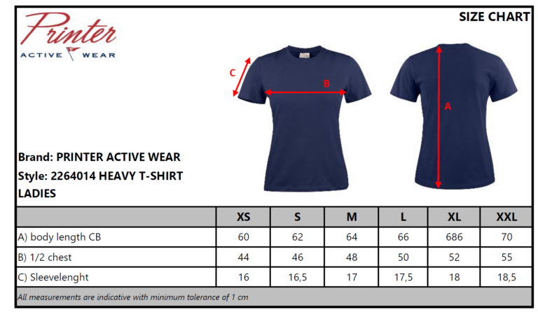 2264014 T-shirt HEAVY T LADY