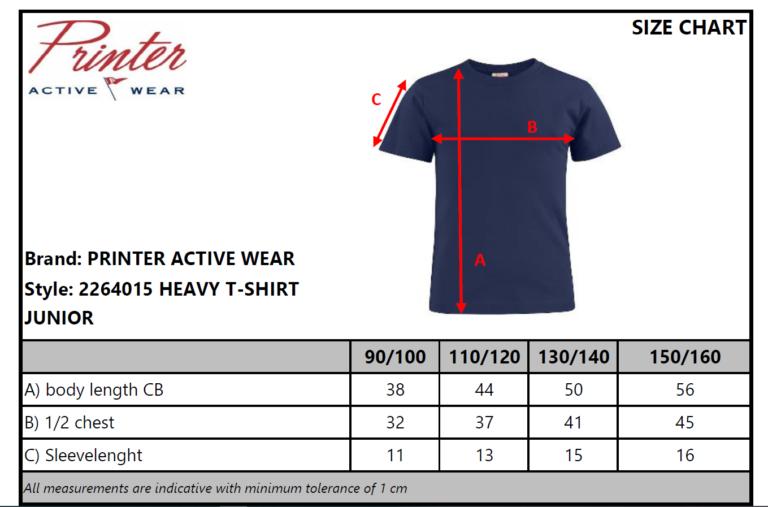 2264015 T-shirt HEAVY T JUNIOR