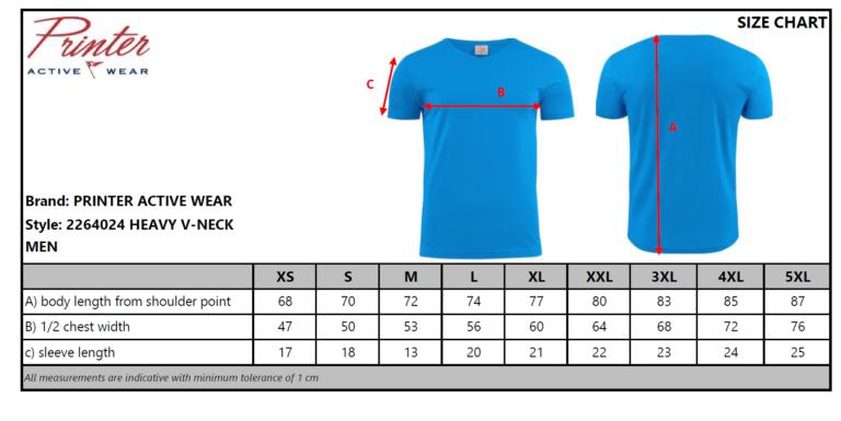2264024 T-shirt HEAVY V-NECK