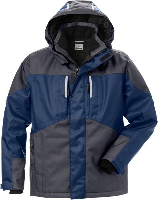 127559 Airtech winterjack 586 marineblauw/grijs