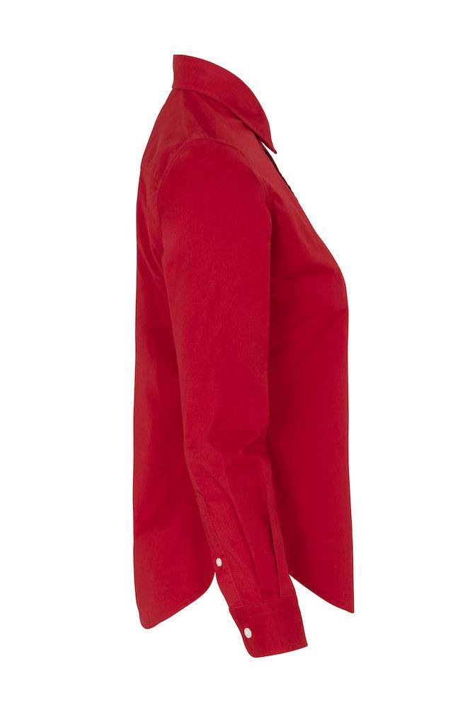 141037 Twill overhemd lady rood