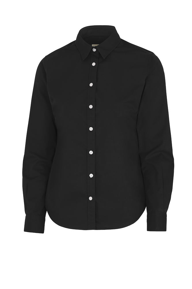 141037 Twill overhemd lady zwart