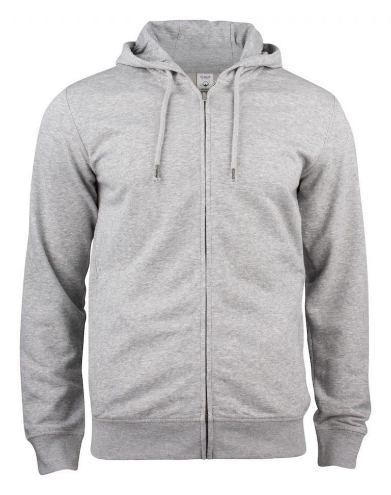 021004 Premium OC Hoody full zip 95 grey melange