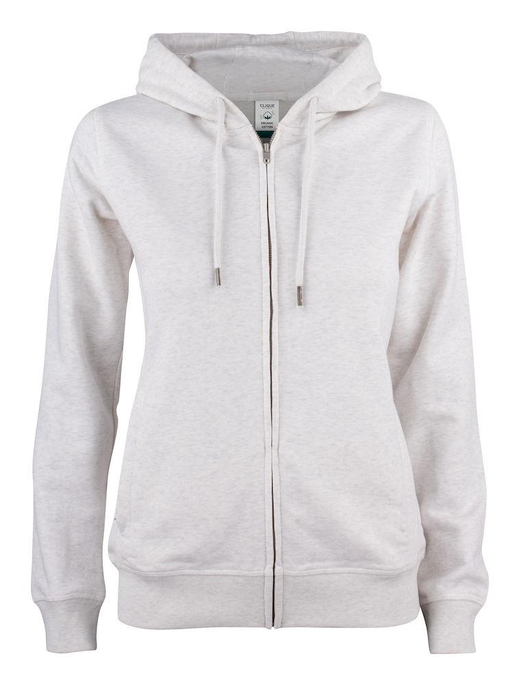 021005 Premium OC Hoody full zip Ladies 925 nature melange