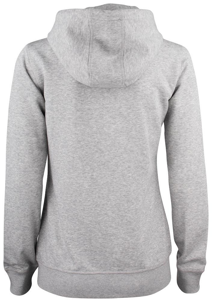 021005 Premium OC Hoody full zip Ladies 95 grey melange
