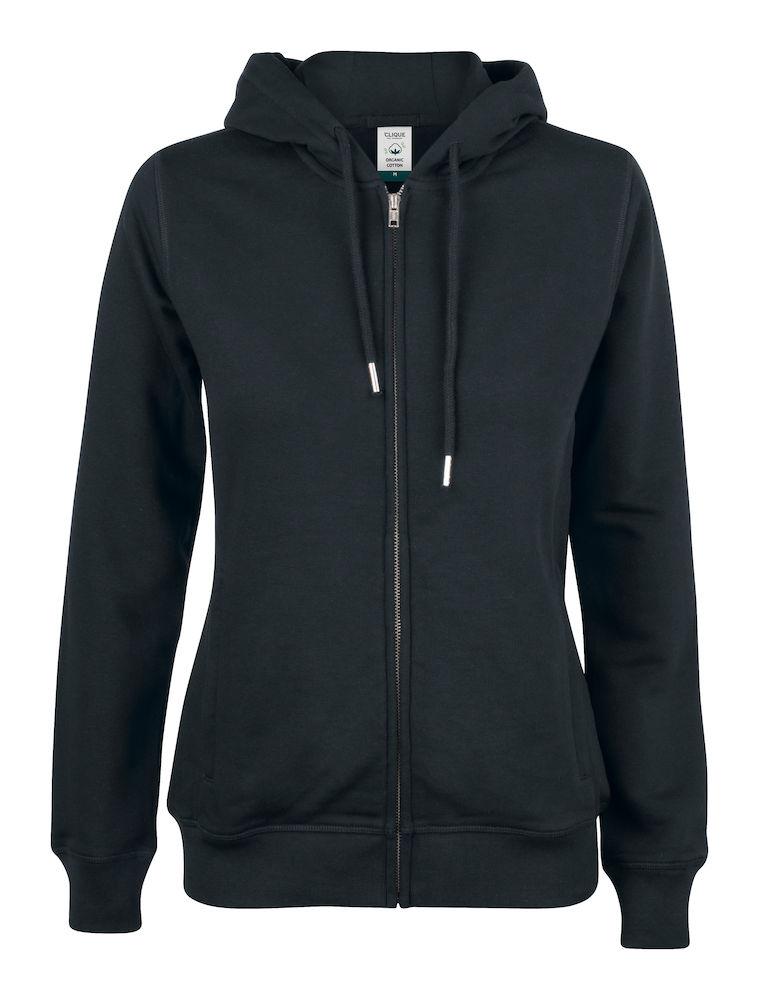021005 Premium OC Hoody full zip Ladies 99 zwart