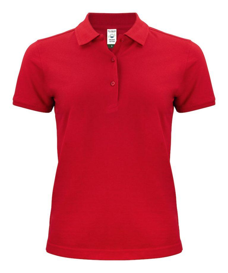 028265 Classic OC Polo ladies rood