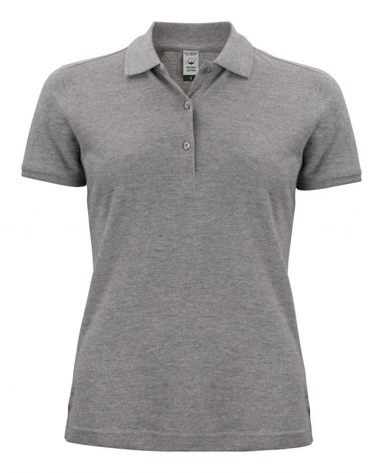 028265 Classic OC Polo ladies grey melange