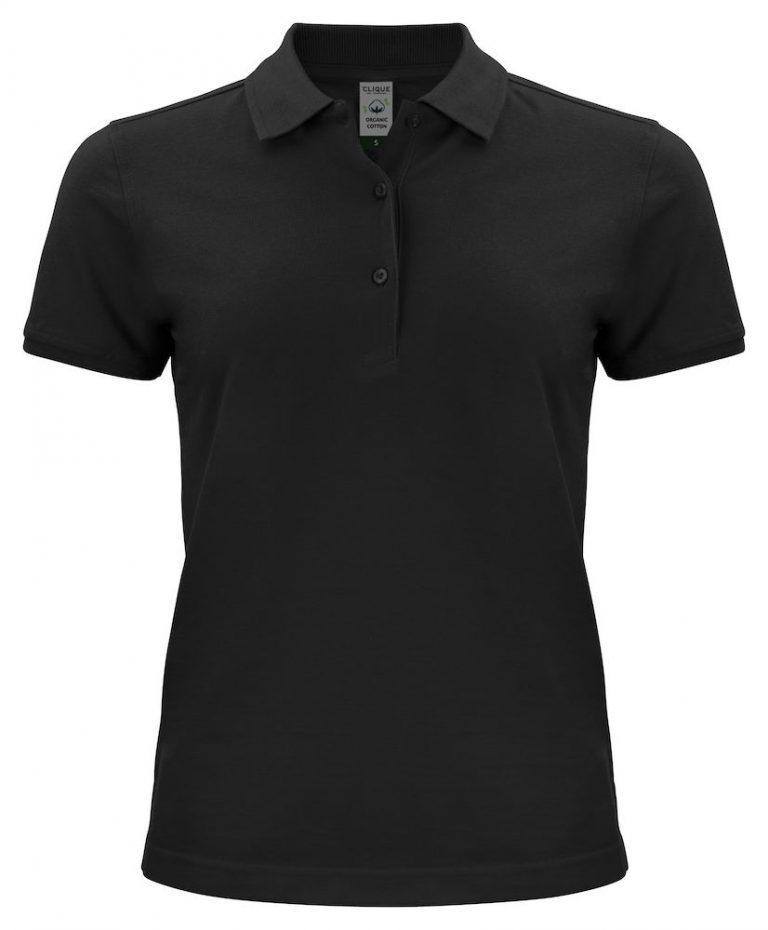 028265 Classic OC Polo ladies zwart