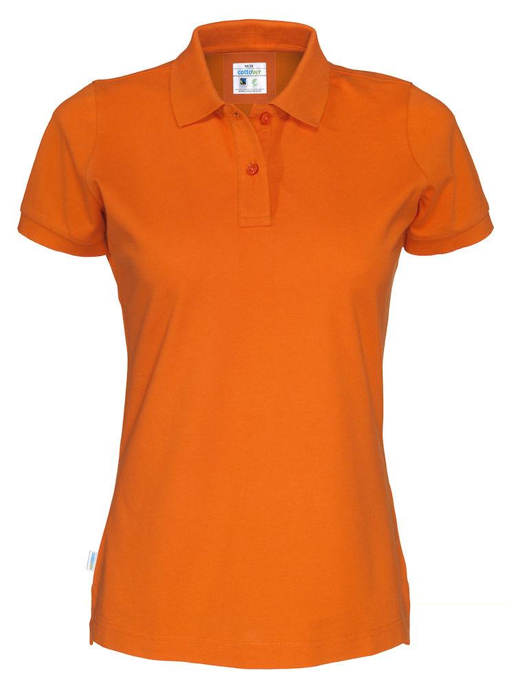 141005 CottoVer oranje damespolo