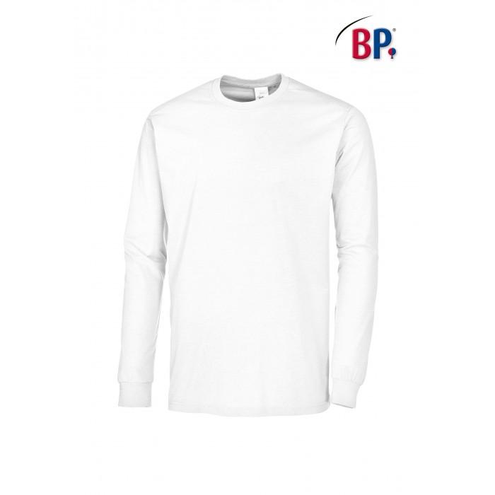 1620 BP T-shirt met lange mouwen voor haar & hem 21 wit