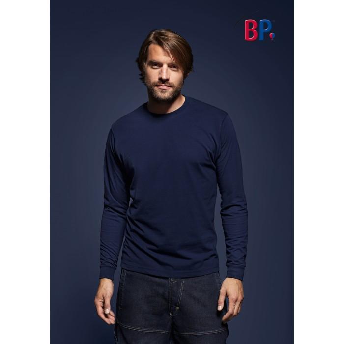 1620 BP T-shirt met lange mouwen voor haar & hem 110 nachtblauw