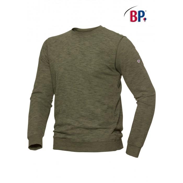 1720 BP Sweatshirt voor haar & hem Space-Dyed 73 olijfgroen