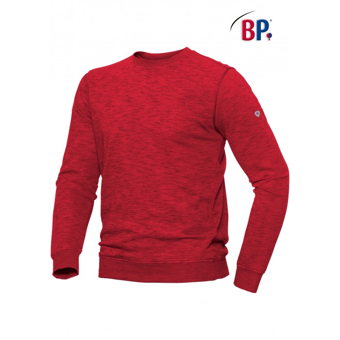 1720 BP Sweatshirt voor haar & hem Space-Dyed 81 rood