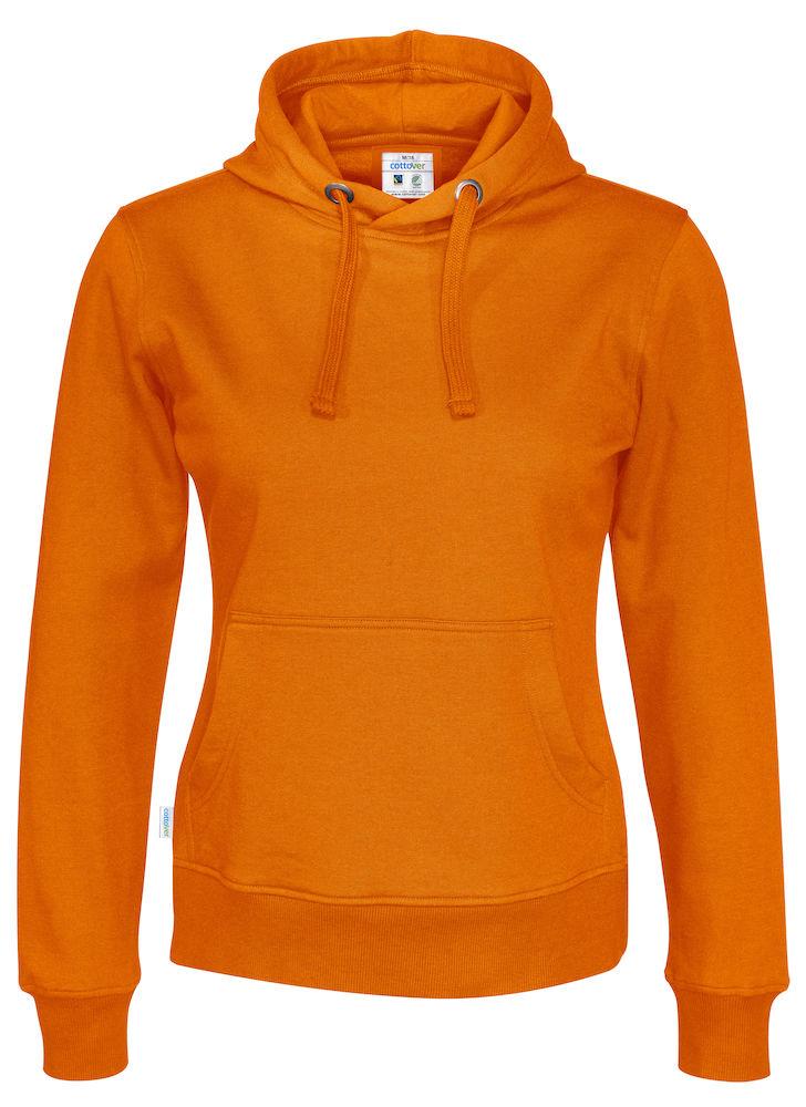 141001 CottoVer Oranje Hoody Lady