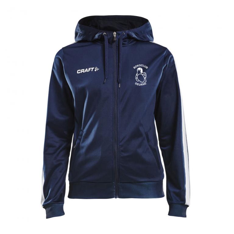 Dames hooded trainingsjack (Boksclub Deurne)