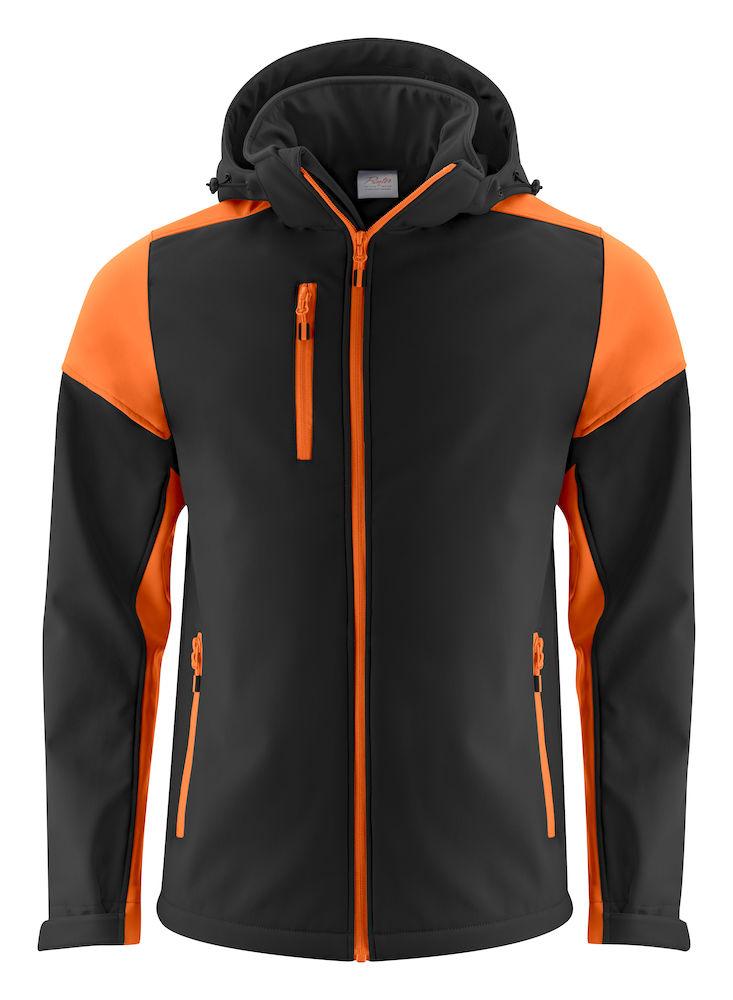 2261065 Prime Softshell jas zwart/oranje