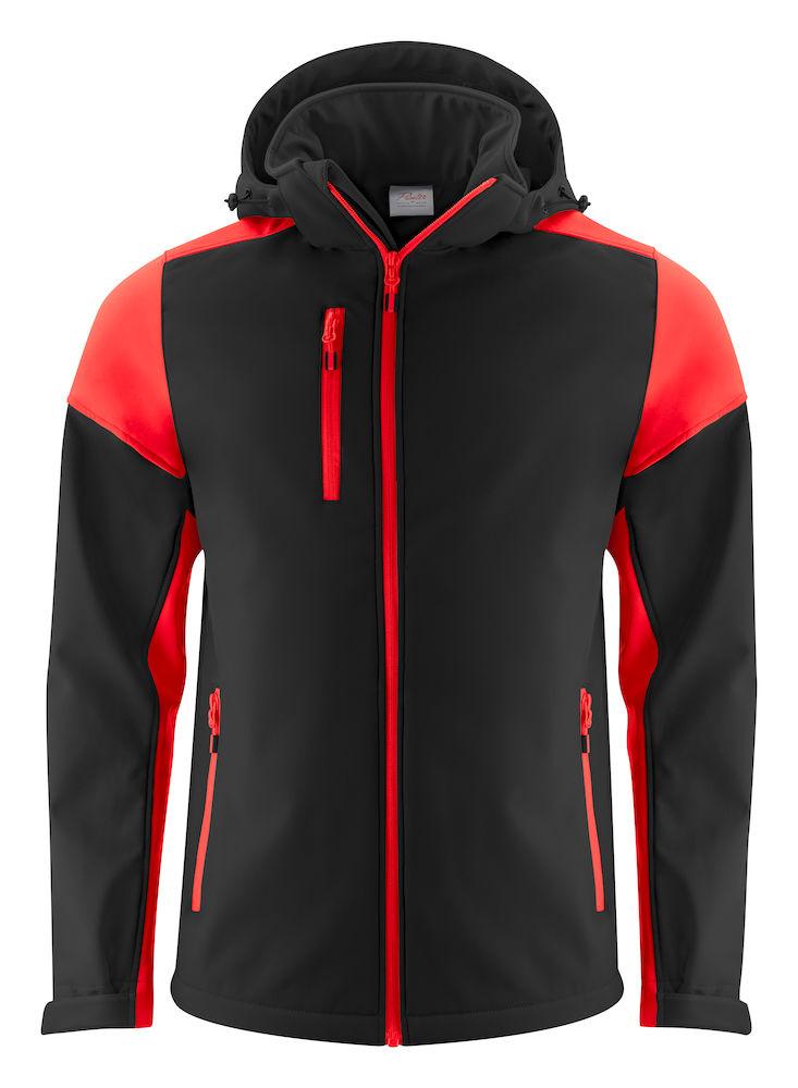 2261065 Prime Softshell jas zwart/rood