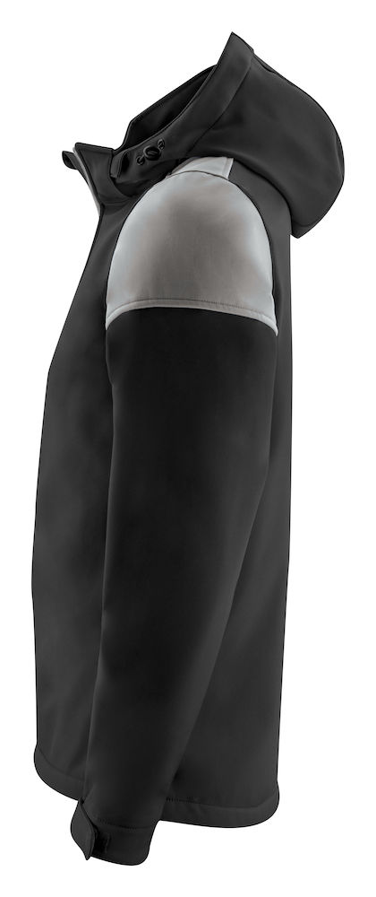 2261065 Prime Softshell jas zwart/staalgrijs
