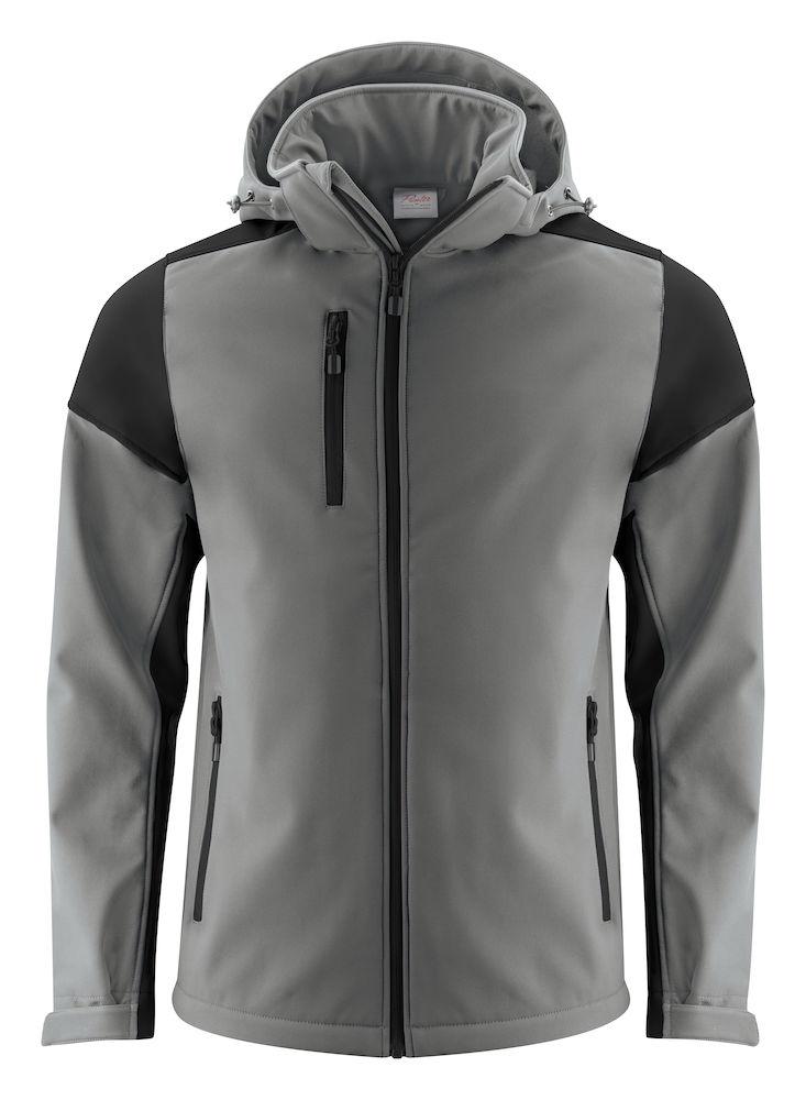 2261065 Prime Softshell jas staalgrijs/zwart