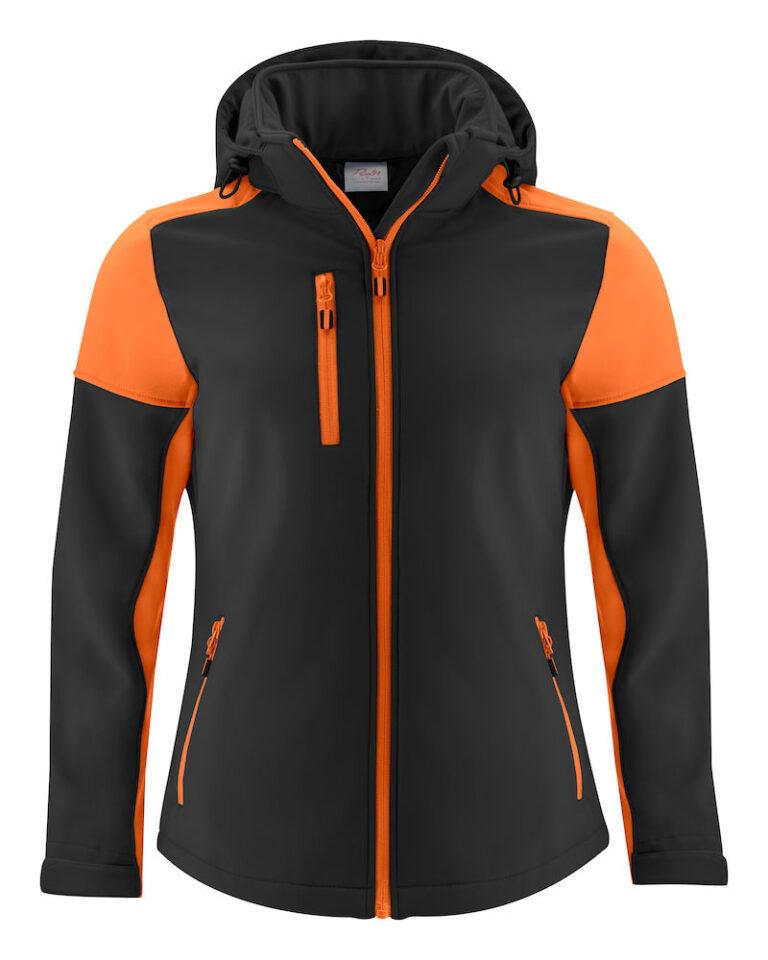 2261066 Prime Softshell jas Lady zwart/oranje