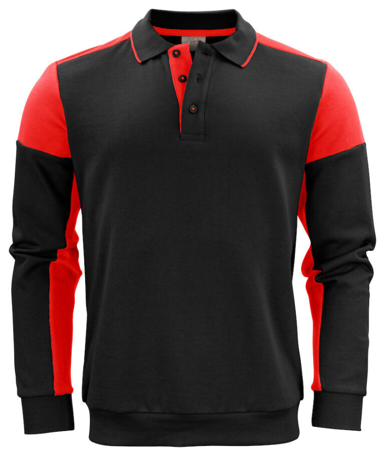 2262060 Prime Polosweater zwart/rood