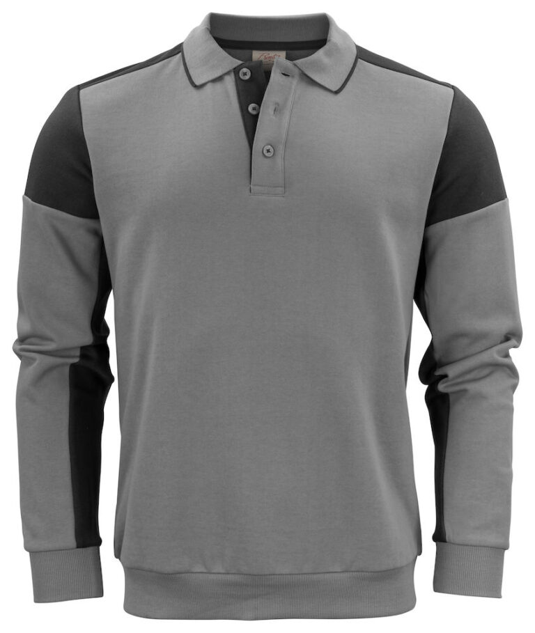 2262060 Prime Polosweater staalgrijs/zwart