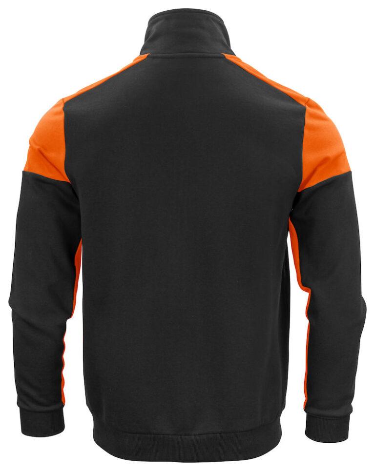 2262061 Prime Sweatvest zwart/oranje