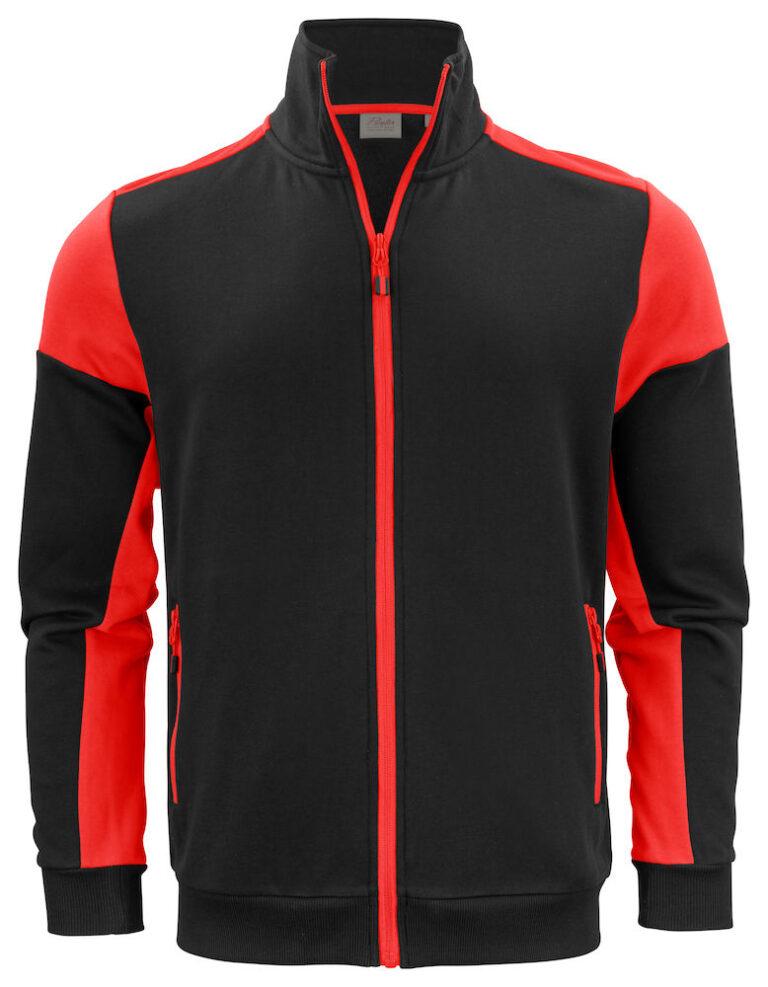 2262061 Prime Sweatvest zwart/rood