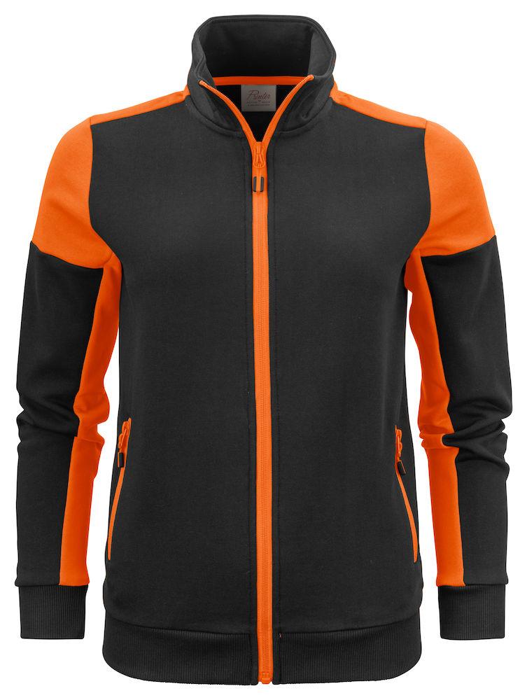 2262062 Prime Sweatvest Lady zwart/oranje
