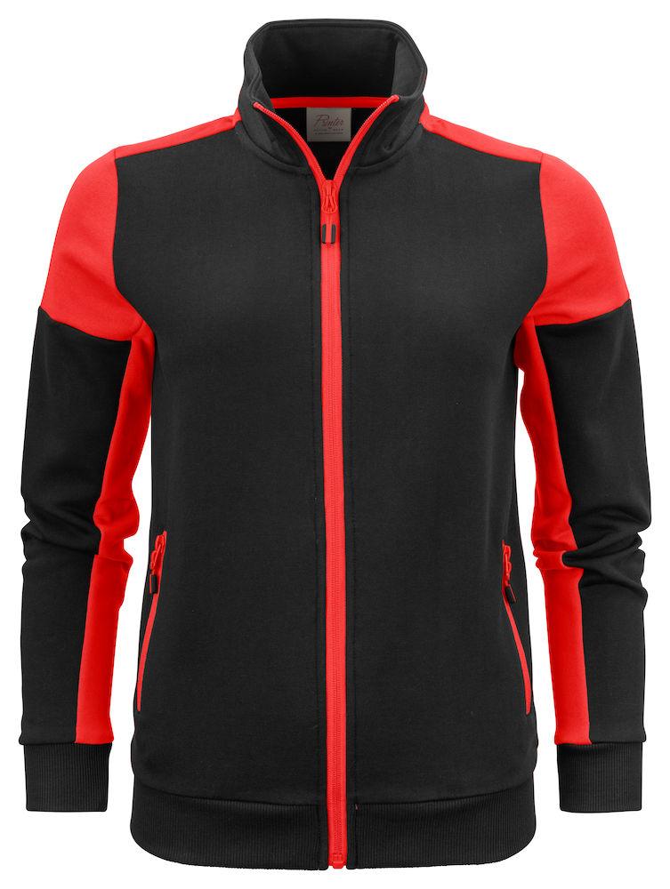 2262062 Prime Sweatvest Lady zwart/rood
