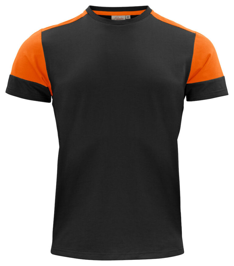 2264030 Prime T-shirt zwart/oranje