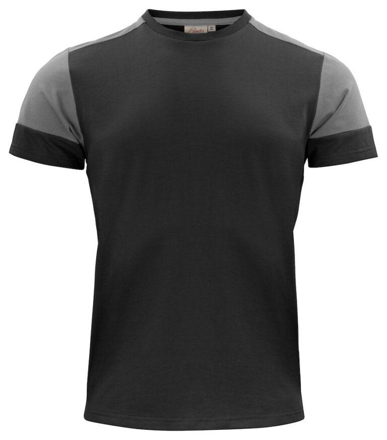 2264030 Prime T-shirt zwart/staalgrijs