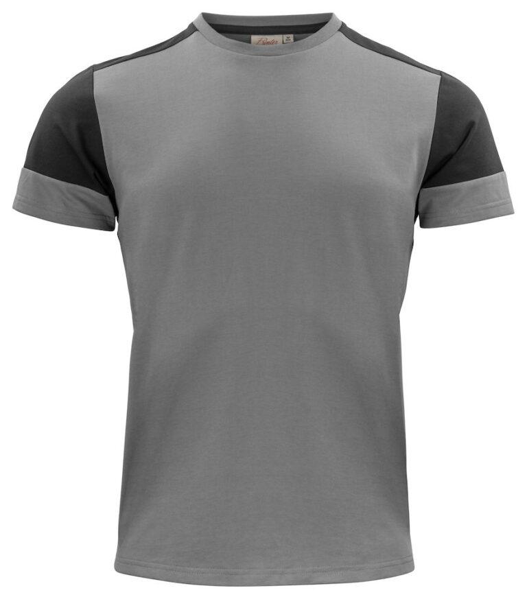 2264030 Prime T-shirt staalgrijs/zwart
