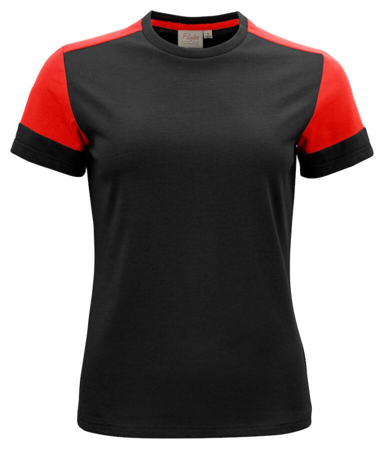 2264031 Prime T-shirt Lady zwart/rood