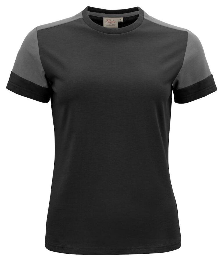 2264031 Prime T-shirt Lady zwart/staalgrijs