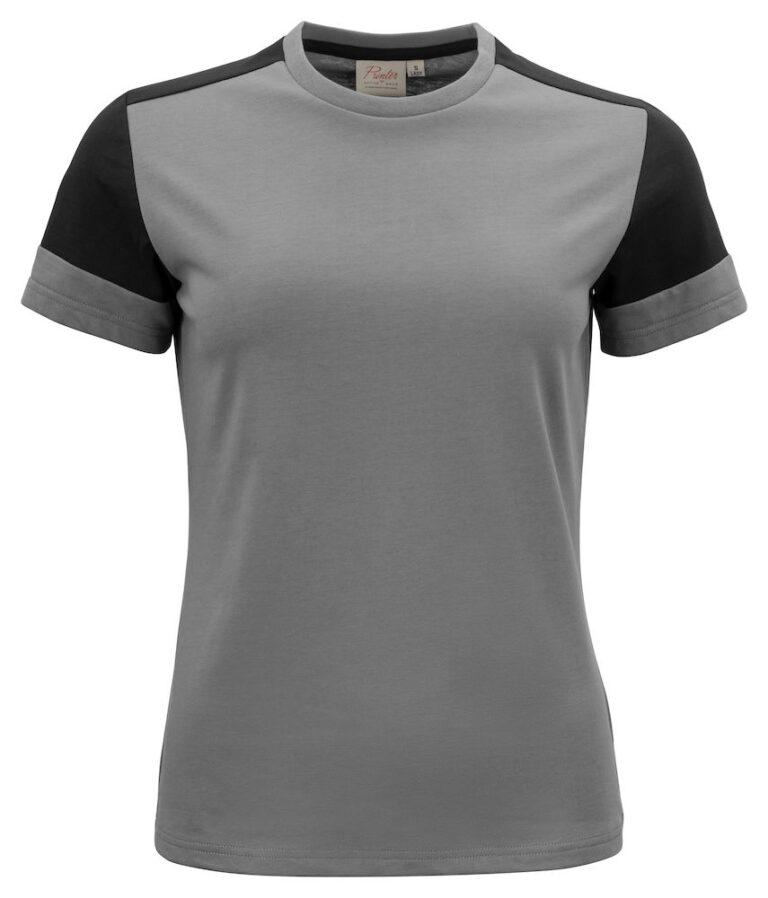 2264031 Prime T-shirt Lady staalgrijs/zwart