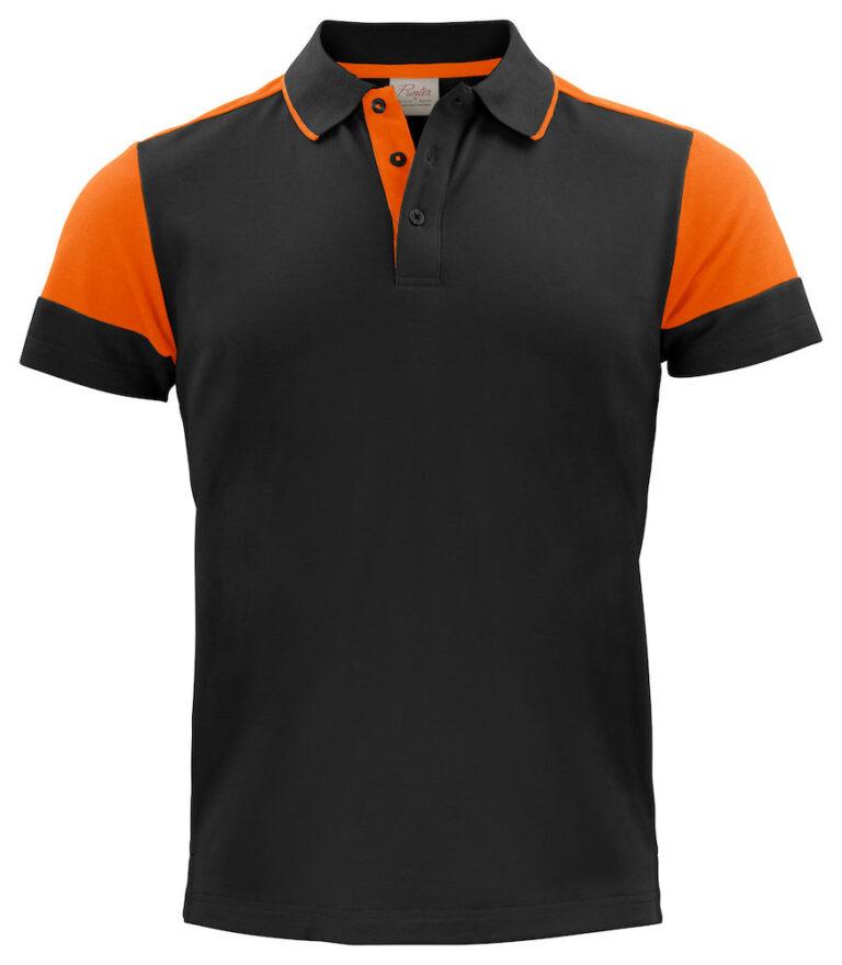 2265024 Prime Polo zwart/oranje