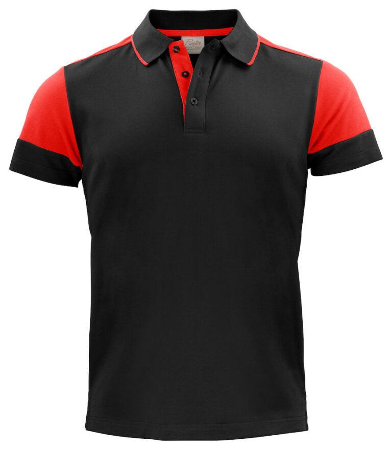 2265024 Prime Polo zwart/rood